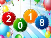 New Year Shows Two Thousand Eighteen And Celebrate — Stockfoto