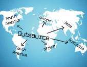 Outsource Worldwide Represents Independent Contractor And Resources — ストック写真