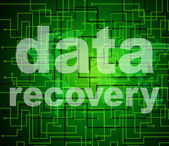 Data Recovery Represents Getting Back And Bytes — Stock Photo
