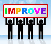 Improvement Improve Indicates Progress Evolve And Advance — Foto Stock
