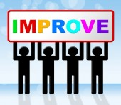 Improvement Improve Indicates Progress Evolve And Advance — Stockfoto