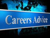Career Advice Indicates Line Of Work And Advisory — Stock Photo