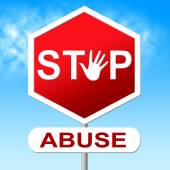 Abuse Stop Indicates Indecently Assault And Control — Stock Photo