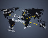 Global Business Shows Planet Globalize And Corporate — Stock Photo