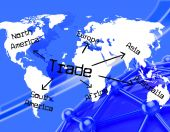 Worldwide Trade Represents Globalisation Buying And E-Commerce — Stock Photo