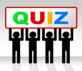 Exam Quiz Indicates Questions And Answers And Examination — Stock Photo