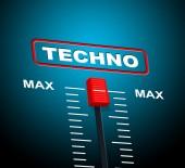 Techno Music Indicates Sound Track And Celebration — Stock Photo