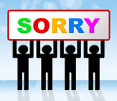 Sign Sorry Represents Regret Apologize And Apology — Stock Photo