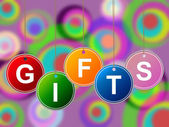 Gift Gifts Indicates Surprise Occasion And Giftbox — Stock Photo