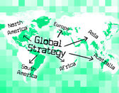 Global Strategy Shows Globally Innovation And Planet — Stock Photo