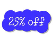 Twenty Five Percent Shows Discounts Save And Discount — Stock Photo