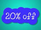 Twenty Percent Off Means Save Sales And Closeout — Stock Photo