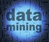 Data Mining Represents Study Facts And Investigate — Stock Photo