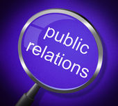 Public Relations Means Press Release And Magnification — Stockfoto