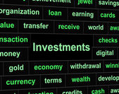 Investments Invest Indicates Portfolio Roi And Investing — Foto Stock