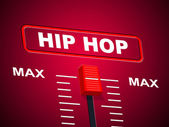Hip Hop Music Shows Sound Track And Acoustic — Stock Photo
