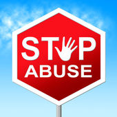 Abuse Stop Shows Indecently Assault And Abuses — Stock Photo