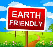 Earth Friendly Shows Conservation Environmental And Natural — Stock Photo