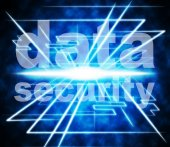 Security Data Means Information Bytes And Protected — Stock Photo