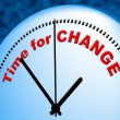 Time For Change Shows Right Now And Changing — Stok fotoğraf #55998155