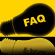 Faq Lightbulb Means Frequently Asked Questions And Answer — Stock Photo #55998845