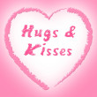 Hugs And Kisses Represents Find Love And Dating — Stock Photo #55999485