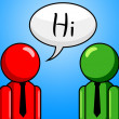 Hi Conversation Shows How Are You And Chinwag — Stock Photo #55999713