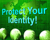 Protect Your Identity Indicates Restricted Personality And Password — Stock Photo