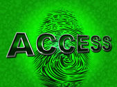 Access Security Means Unauthorized Entry And Permission — Stock Photo