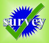 Survey Tick Shows Confirm Opinion And Feedback — Stock Photo