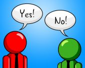 Yes No Shows Disapproval O.K. And Agreeing — Stock Photo