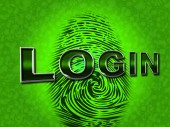 Login Security Shows Logon Restricted And Username — Stock Photo