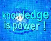 Knowledge Is Power Shows Learned Educating And Learn — Stock Photo