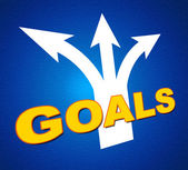 Goals Arrows Shows Targeting Direction And Aspirations — Stock Photo