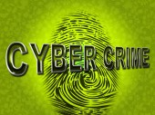 Cyber Crime Indicates Spyware Malware And Hackers — Stock Photo