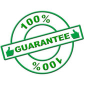 Hundred Percent Guarantee Represents Completely Promise And Ensure — Stock Photo