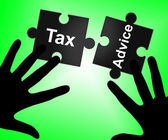 Tax Advice Indicates Excise Recommendations And Duty — Stock Photo