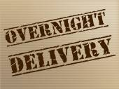 Overnight Delivery Indicates Next Day And Courier — Stock Photo