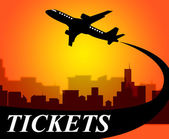 Flights Tickets Represents Aviation Transport And Travel — Stock Photo