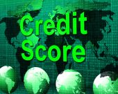 Credit Score Shows Card Loan And Owe — Foto Stock