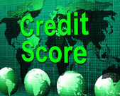 Credit Score Shows Card Loan And Owe — Stock Photo