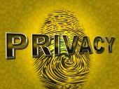 Privacy Fingerprint Indicates Login Unauthorized And Encrypt — Stockfoto