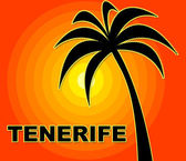 Tenerife Holiday Represents Go On Leave And Heat — Stock Photo