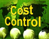 Cost Control Represents Charge Paying And Finances — Stock Photo