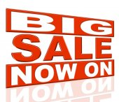 Big Sale Means At The Moment And Closeout — Stock Photo