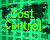 Cost Control Shows Price Purchase And Balance — Stock Photo