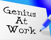 Genius At Work Means Bona Fide And Knowledge — Stock Photo