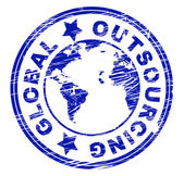 Global Outsourcing Represents Independent Contractor And Freelance — Foto de Stock
