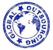 Global Outsourcing Represents Independent Contractor And Freelance — Stock Photo