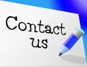 Contact Us Means Send Message And Communicate — Stock Photo